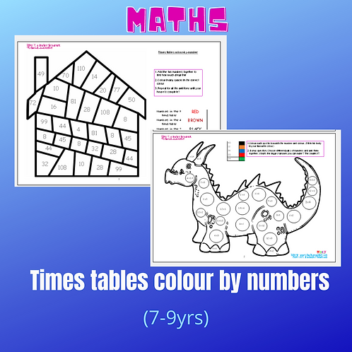 Times tables colour by numbers