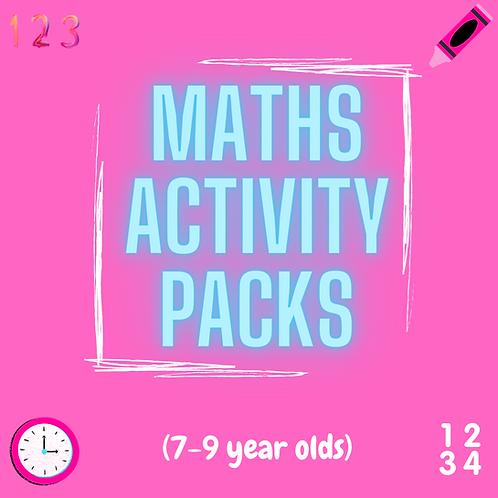 7-9yrs MATHS pack