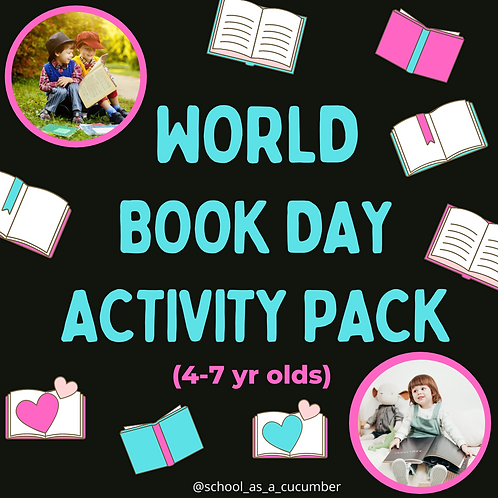 4-7yrs World Book Day pack