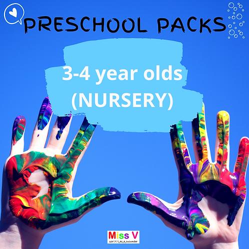 3-4yrs Preschool Pack