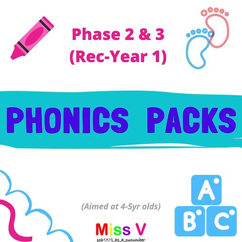 Phonics Pack (Reception, ph2-3)