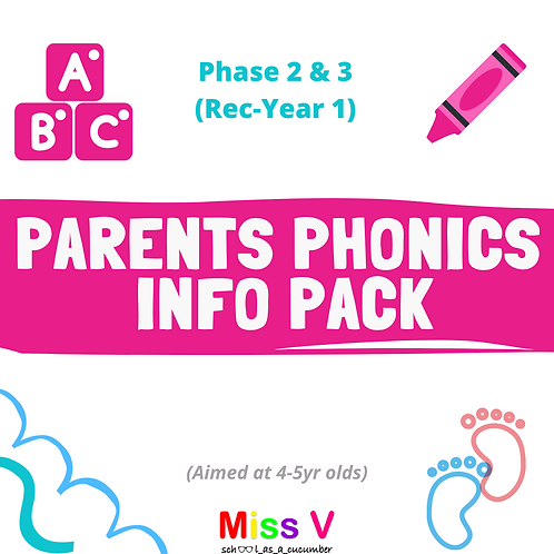 Parent Phonics Pack