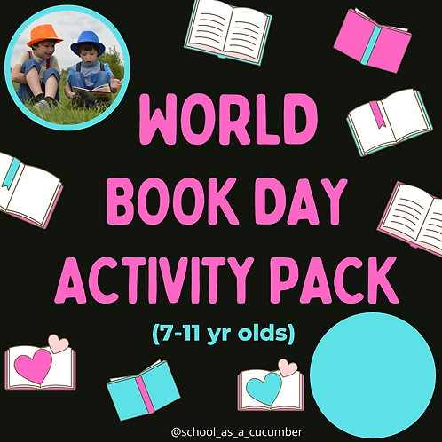 7-11yrs World Book Day pack