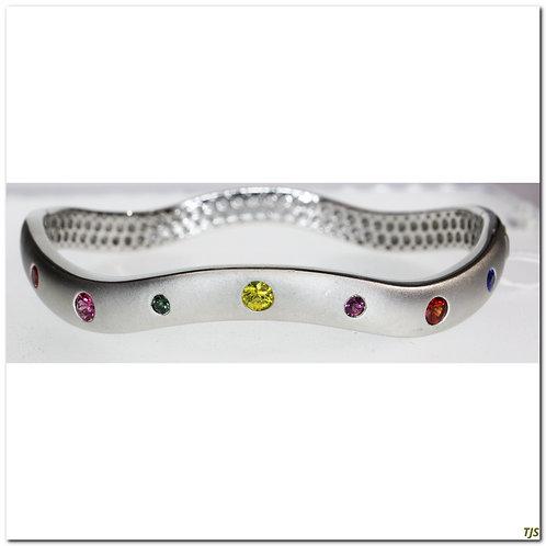 Silver Sapphire Bracelet