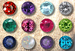 Birthday gemstones
