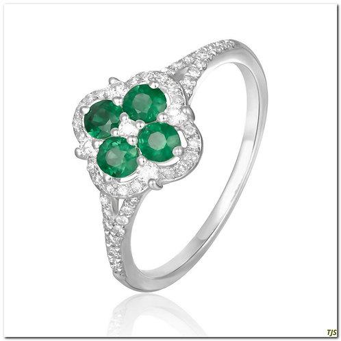 Gold Diamond Emerald Ring