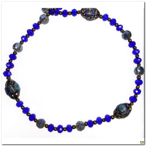 Cobalt Chinese Enamel Necklace