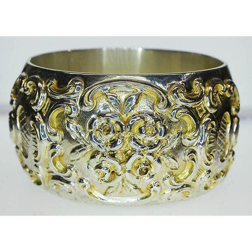 Antique German Sterling Bangle Bracelet