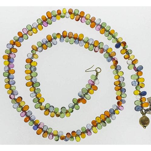 Gold Briollette Sapphire Necklace