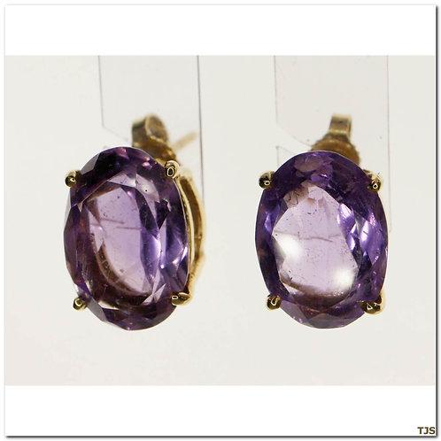 Gold Amethyst Earrings