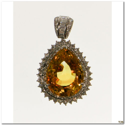 Platinum Diamond & Sapphire Necklace