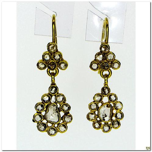 Antique Dangle Diamond Earrings