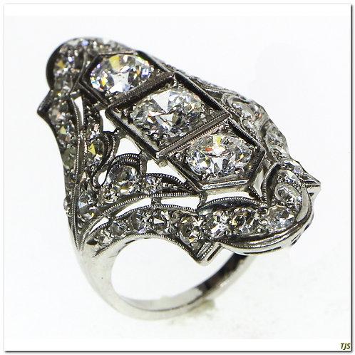 Edwardian Filigree Diamond Ring