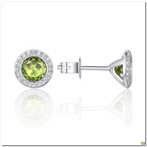 Gold Diamond & Peridot Earrings
