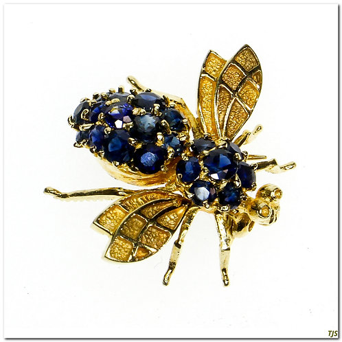 Vintage Diamond Bee Pin