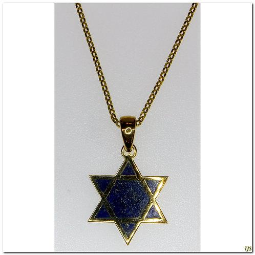Gold Lapis Necklace