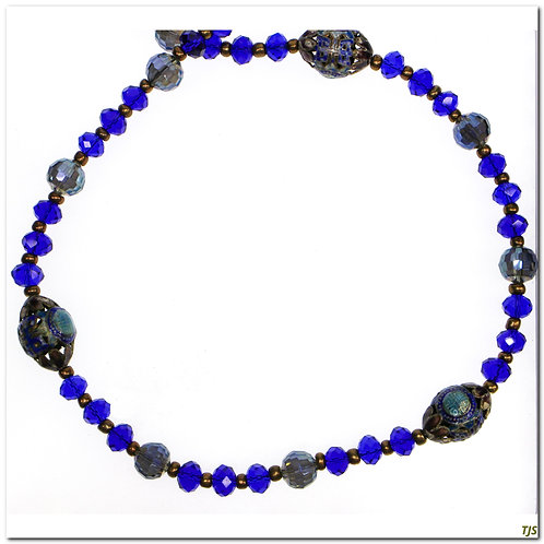 Cobalt Chinese Enamel Necklace