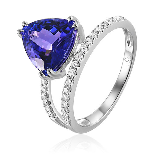 Gold Diamond & Tanzanite Ring