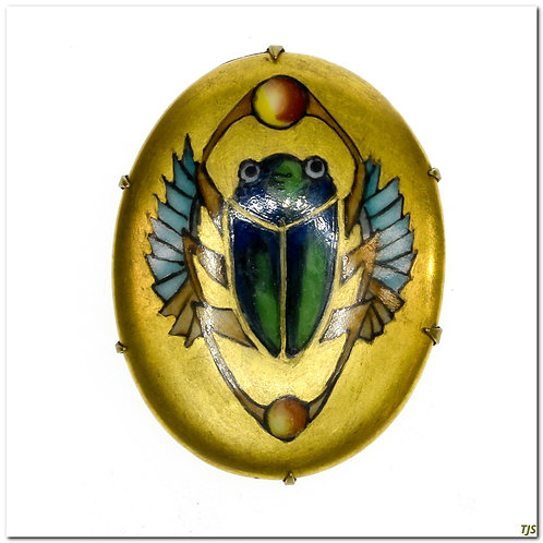 Egyptian Painted Porcelain Pin