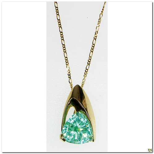 Gold Sapphire Necklace