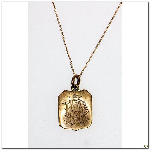 Rose Gold Hallmark Locket