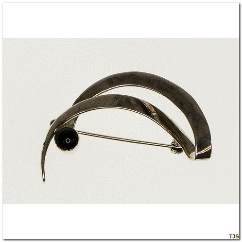 Sterling Black Onyx Pin