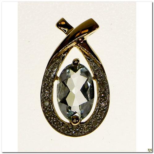 Gold Aquamarine Pendant