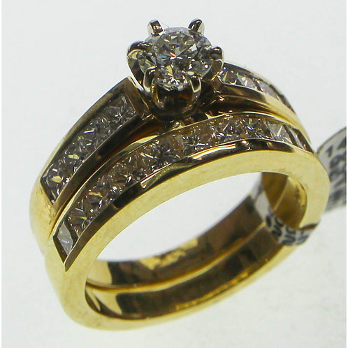 Gold Diamond Ring Set