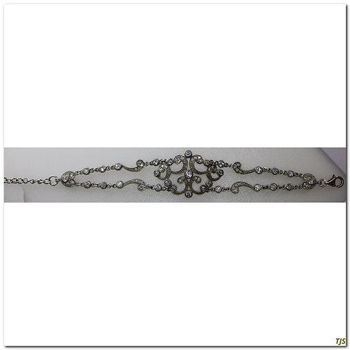 Silver Edwardian Zircon Bracelet