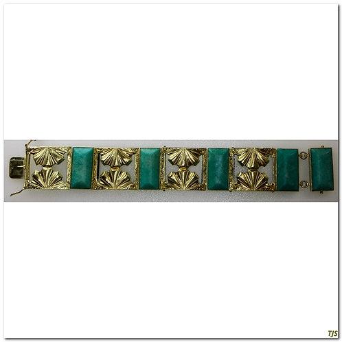 Amazonite Hand Engraved Bracelet