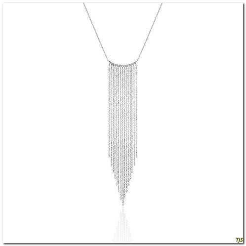 Gold Diamond Necklace With Chain
