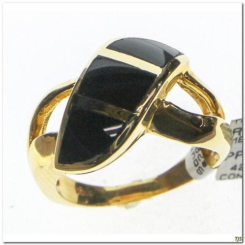 Gold Diamond & Onyx Ring