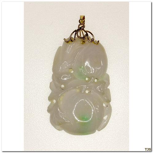Gold Jade Pendant
