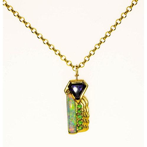 Gold Multi-Stone Necklace