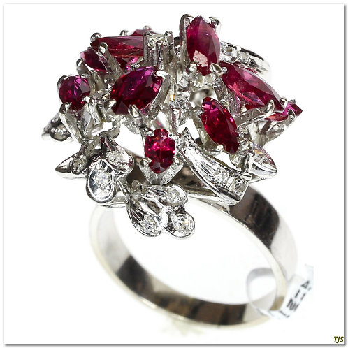 Gold Ruby & Diamond Ring