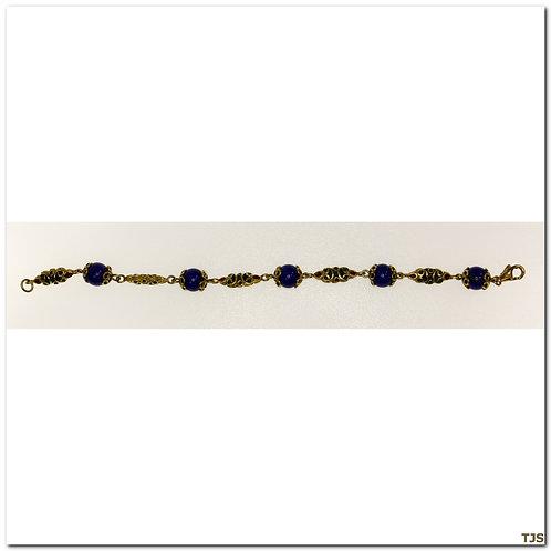 Gold Lapis Bracelet