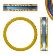 Gold Diamond & Enamel Ring
