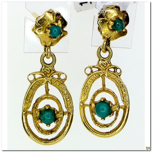 Victorian Turquoise Dangle Earrings