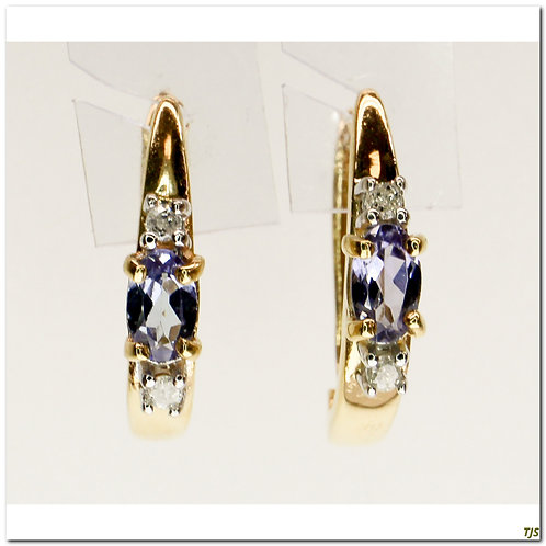 Gold Tanzanite Earrings