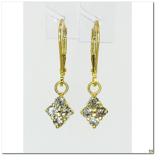 Gold Diamond Earrings