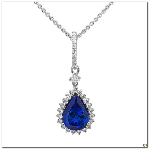 Gold Diamond & Tanzanite Pendant