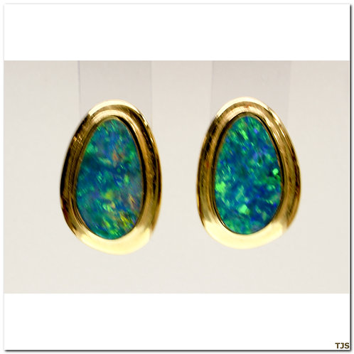 Gold Opal Earring