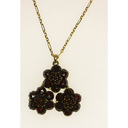 Gold Garnet Necklace