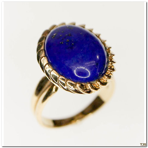 Gold Lapis Ring