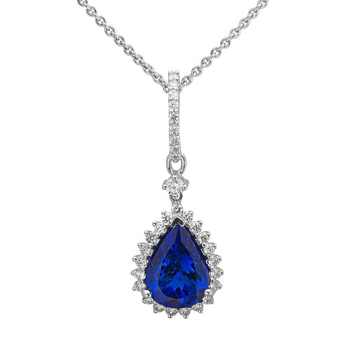 Gold Diamond & Tanzanite Pendant