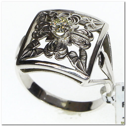Art Deco Leaf Getail Ring