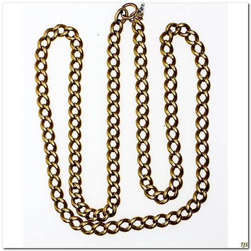 Gold Victorian Curb Link Chain