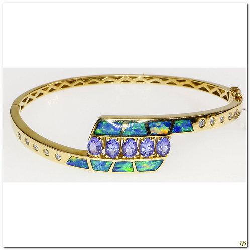 Gold Diamond & Tanzanite Bracelet