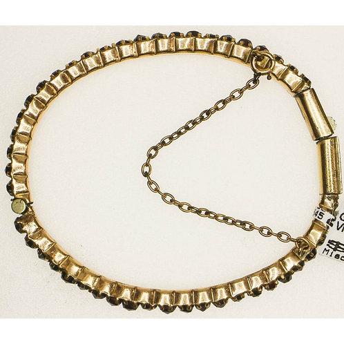 Silver Victorian Bangle Bracelet