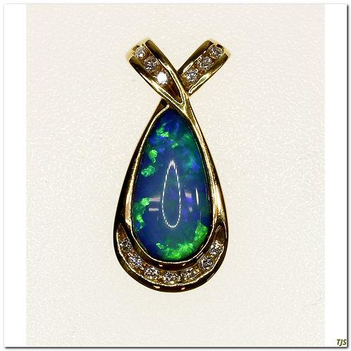 Gold Opal Pendant